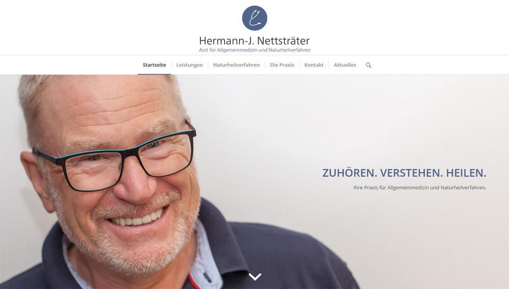 Homepage Hermann-J. Nettsträter, Arzt für Allgemeinmedizin und Naturheilverfahren Kassel