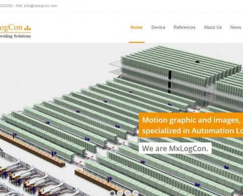 MXLogCon CMS, Webseite